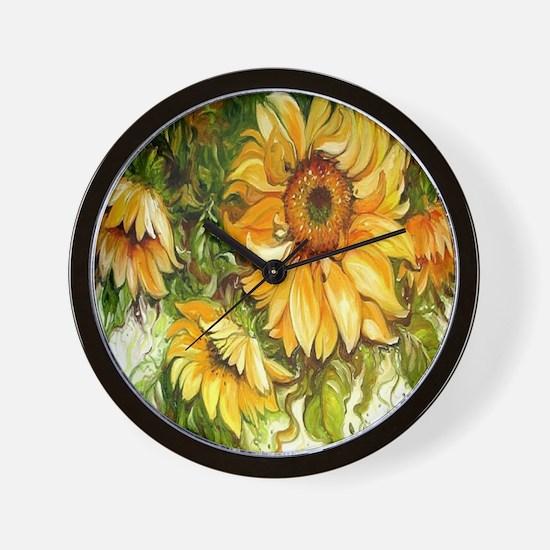 Pretty Sunflowers Wall Clock