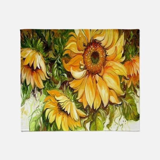 Pretty Sunflowers Throw Blanket