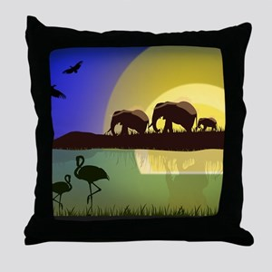 Animals African Landscape Throw Pillow