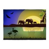 African animals 5x7 Rugs
