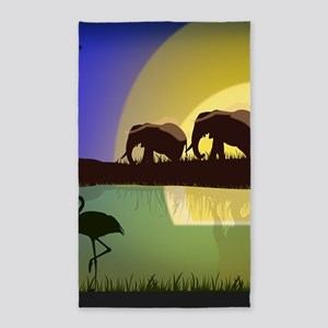 Animals African Landscape Area Rug
