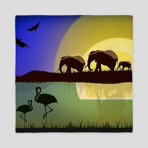 Animals African Landscape Queen Duvet