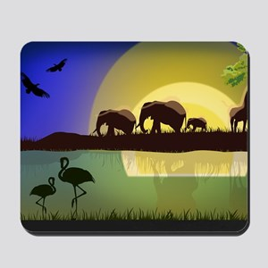 Animals African Landscape Mousepad