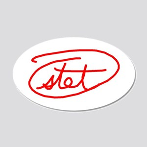Stet 20x12 Oval Wall Decal
