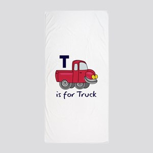 T IS FOR TRUCK Beach Towel