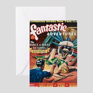 Fantastic Adventures-VINTAGE PULP MAGAZINE COVER G