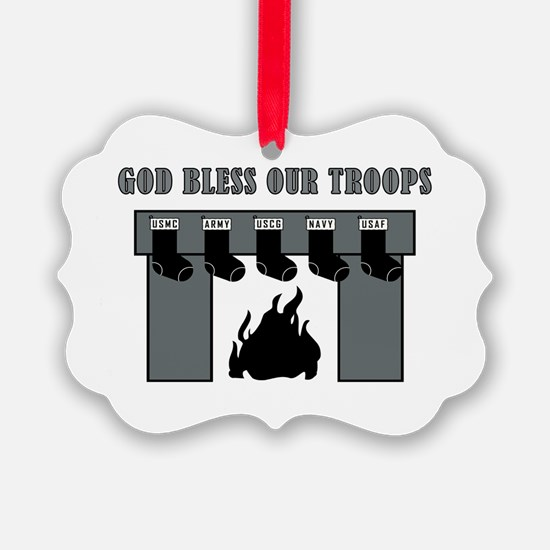 GOD BLESS OUR TROOPS! Ornament