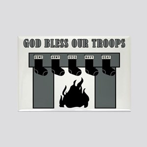 GOD BLESS OUR TROOPS! Magnets