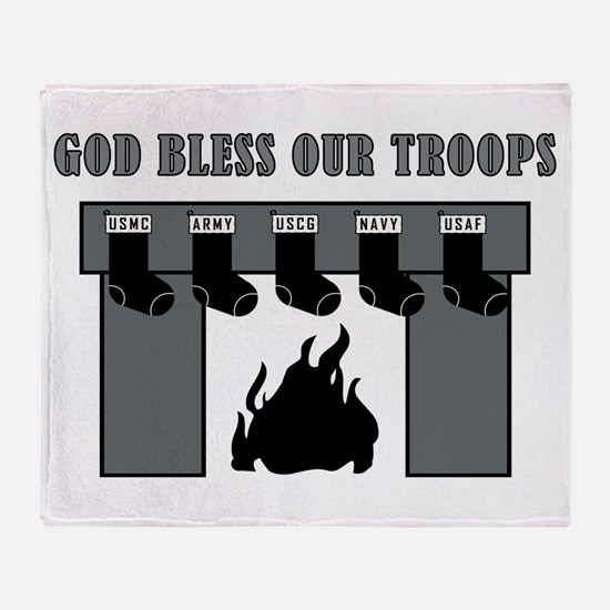 GOD BLESS OUR TROOPS! Throw Blanket