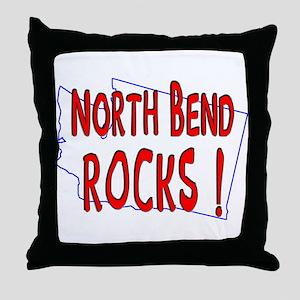 North Bend Rocks ! Throw Pillow