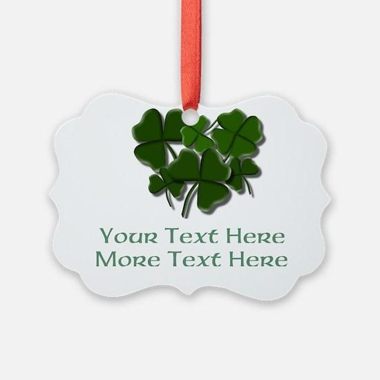 Design Your Own St. Patricks Day Item Ornament