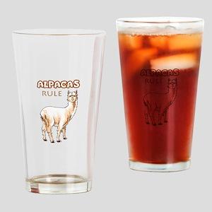 ALPACAS RULE Drinking Glass