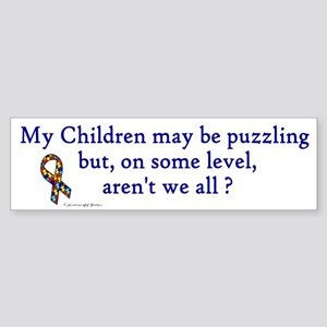 Puzzling (Children) Bumper Sticker