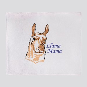 LLAMA MAMA Throw Blanket