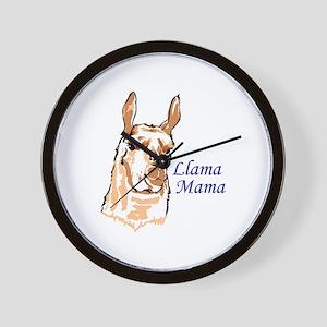 LLAMA MAMA Wall Clock