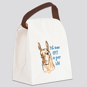 SPIT IN YOUR LIFE Canvas Lunch Bag