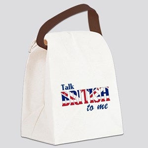 Talk British to Me Canvas Lunch Bag