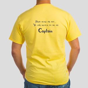Pirate Captain Yellow T-Shirt