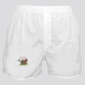 BURY TROUBLES IN THE DIRT Boxer Shorts