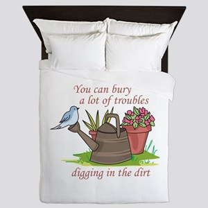 BURY TROUBLES IN THE DIRT Queen Duvet