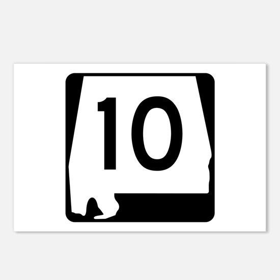 Route 10, Alabama Postcards (Package of 8)