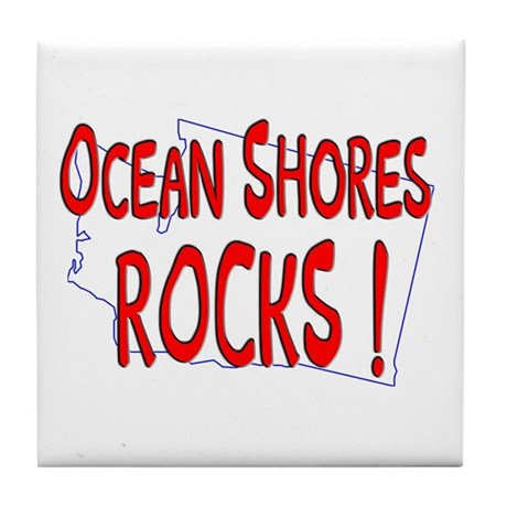 Ocean Shores Rocks ! Tile Coaster