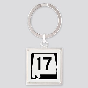 Route 17, Alabama Square Keychain