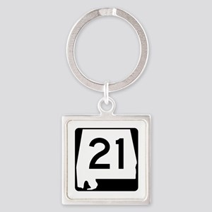 Route 21, Alabama Square Keychain