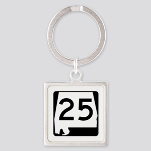 Route 25, Alabama Square Keychain