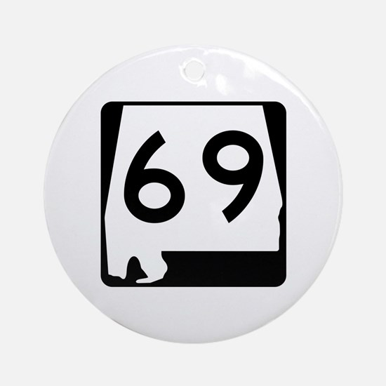 Route 69, Alabama Ornament (Round)