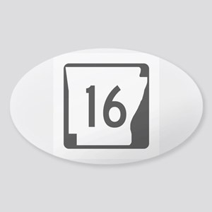 Route 16, Arkansas Sticker (Oval)
