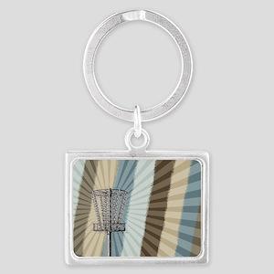 Disc Golf Basket Graphic Keychains