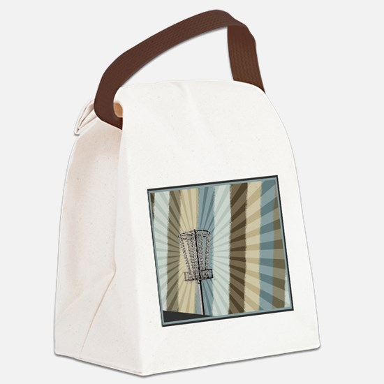 Disc Golf Basket Graphic Canvas Lunch Bag