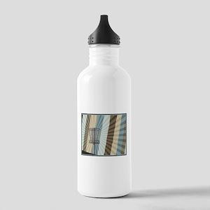 Disc Golf Basket Graphic Water Bottle