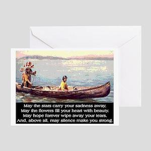 THE WISDOM OF SILENCE Greeting Card