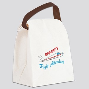 OFF DUTY FLIGHT ATTENDANT Canvas Lunch Bag