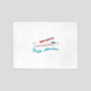 OFF DUTY FLIGHT ATTENDANT 5'x7'Area Rug