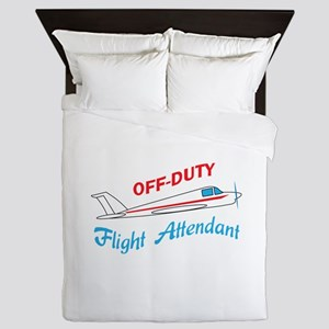 OFF DUTY FLIGHT ATTENDANT Queen Duvet