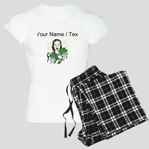 Woman Holding Money (Custom) Pajamas