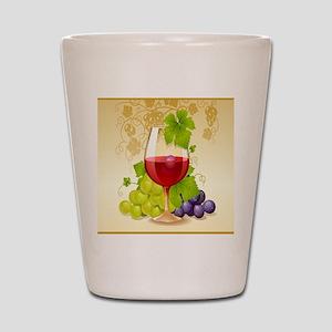 Wine Glass and Grape Vines Shot Glass