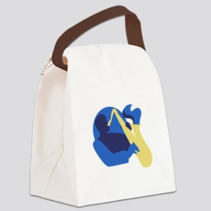 Blues Sax Canvas Lunch Bag