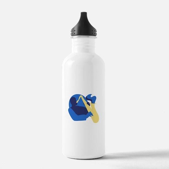 Blues Sax Water Bottle