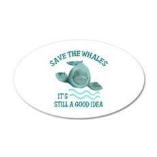SAVE THE WHALES Wall Decal