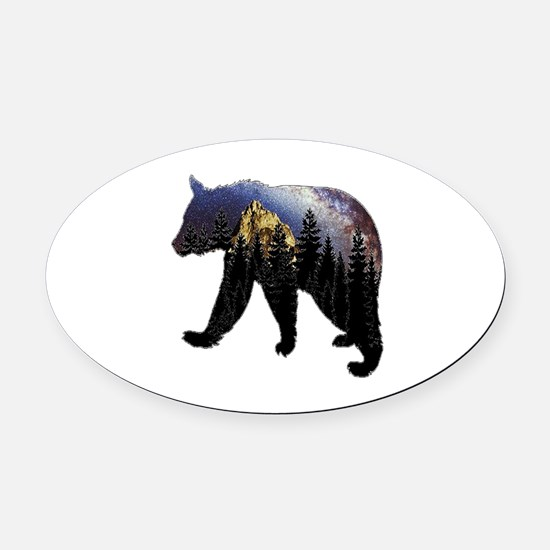 NIGHT Oval Car Magnet