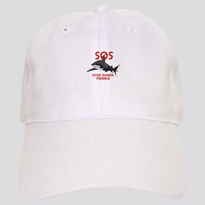 SOS STOP SHARK FINNING Baseball Cap