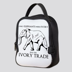 Elephant Ivory Neoprene Lunch Bag