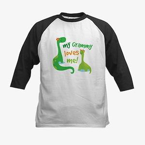 Grammy Loves Me Grandson Dinosaur Baseball Jersey