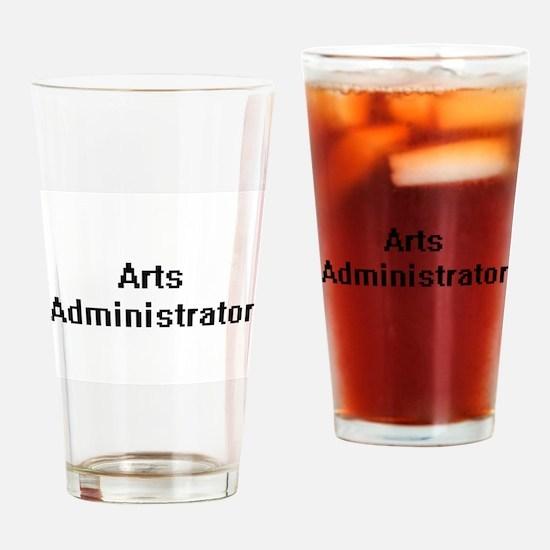 Arts Administrator Retro Digital Jo Drinking Glass