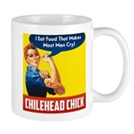 Rosie The Chilehead Riveter Mugs