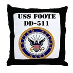 USS FOOTE Throw Pillow